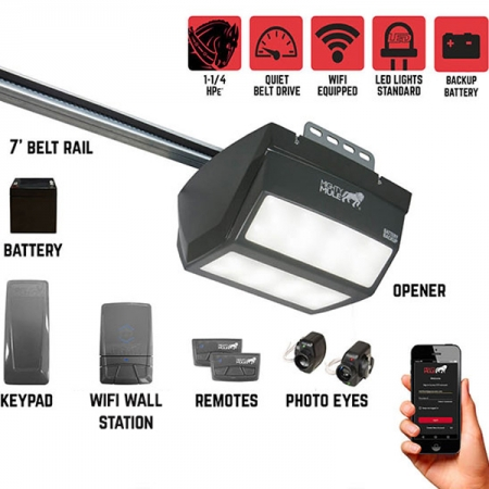 Mighty Mule MM9545M – 1 1/4 HPe Smart Garage Door Opener